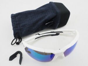KOO Orion Cycling Sunglasses (White/Blue) 100% UV Protection