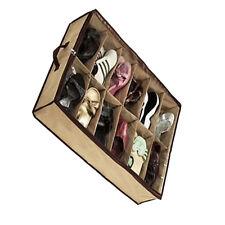 12 Pairs/Grids Transparent Shoes Storage Organiser Space Saving Under VO