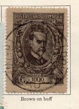 Tchécoslovaquie 1920 Early question fine utilisée 1000 F. 236187