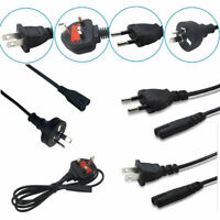 Mains Power Lead Cable Cord 1M 2/3-Pin to FIGURE 8 Plug for PC TV AU/EU/US/UK