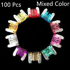 100 Pcs Mixed Color Car Truck Standard Profile Fuse Box 5 7.5 10 15 20 25 30 AMP