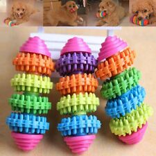 Rubber Ball Chew Treat Cleaning Pet Dog Puppy Cat Toy Training Dental Teething