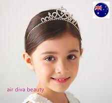 Girl Kids Bridemaid Heart ballerina Crown Princess Crystal Tiara Hair Headband