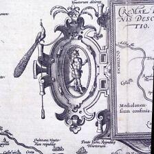 ITALIA CREMA CREMONA CARTA 1579 ORTELIUS THEATRUM ORBIS LOMBARDIA ANTIQUE MAP