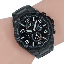 Casio Edifice Herren Uhr EFR-302BK-1AVUEF Weltuhr Schwarz Armband