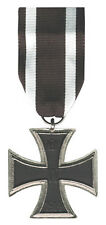 German Knight Iron Cross Medal Army War Prussia Badge 2 Class EK 1 Ribbon Award