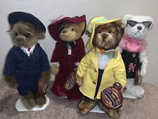 Brass Button Bears 20th Century Collection • Set Of 4• With Tags