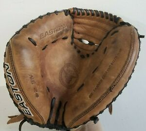 "Easton NE 24 Glove. Oil Tanned Genuine Steer Hide Natural Elite Pro, 12"" LHT."