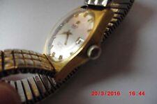 Polierte quadratische Armbanduhren mit vergoldetem Armband für Erwachsene