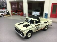 1/64 JOHNNY LIGHTNING WEATHERED WHITE 1965 CHEVY W/ HITCH