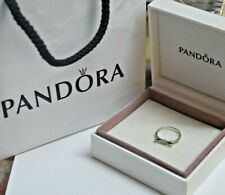 PANDORA STERLING SILVER SPARKLING BOW RING SZ 8.5 (58)