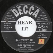 Louis Armstrong JAZZ (Decca 24752) Blueberry Hill/That Lucky Old Sun  VG++