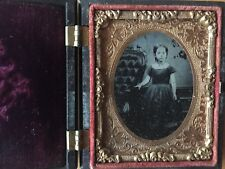 RARE GUTTA PECHA AMBROTYPE: The Blind Beggar 1 Thermoplastic Case Ninth Plate