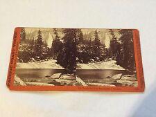 CE Watkins 1878-1881 Pacific Coast Views Nevada Fall Yosemite Stereoview  #3120