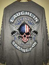 Laughlin 36th Annual Nevada Spring Run Biker Club Long Sleeve Size M