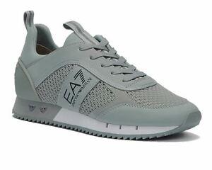Emporio Armani X8X027 XK050 Mesh Trainers Grey