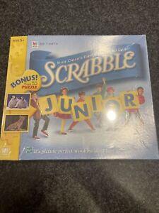 Scrabble Junior First Crossword Game 5+ Milton Bradley 1999 NEW SEALED Bonus