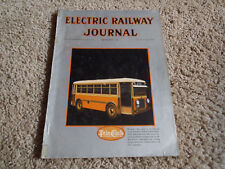 Electric Railway Journal Sept 1930  Vol 74 No 10 Trolley Bus