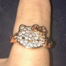 Fragrant Jewels Sanrio Hello Kitty Rose gold CZ Ring size 7 Licensed Jewelry NEW