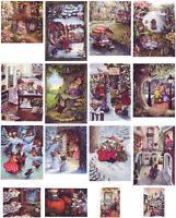 SET of 16 pcs SUSAN WHEELER. HOLLY POND HILL. Modern Postcard in Folder Vol. 1