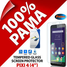 "Pama Tempered Glass Screen Protector Round Guard Film for Alcatel Pixi 4 (4"")"