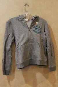 NFL Youth Boys Seattle Seahawks Logo Pullover Sweatshirt Hoodie Gray XL __ R20F4