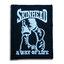 Skinhead A Way of Life Patch Iron on Badge Music Ska Reggae Boot Street Punk MC