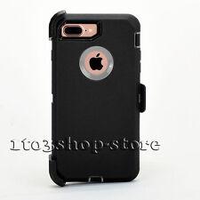 iPhone 7 Plus Hard Case w/Holster Belt Clip for Otterbox Defender (Black/Gray)