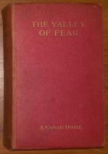 1st Edition A Conan Doyle, Sherlock Holmes -The Valley of Fear, 1915 Smith Elder
