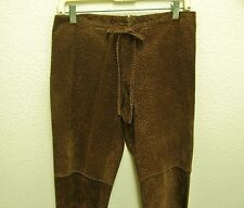 ILLIA LEOPARD SUEDE LEATHER CROPPED FRINGE PANTS, SIZE M, SAKS FIFTH AVENUE