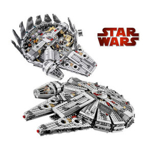 1381 pcs LEGO Kessel Run Millennium Falcon Star Wars Spacecraft Building Blocks