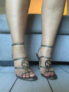 Gucci Monogram shoes Heels 38.5 8/8.5