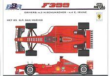 Ferrari F399 GP San Marino 1999  Metall-Bausatz  BBR  PJ359  1:43  NEU  OVP