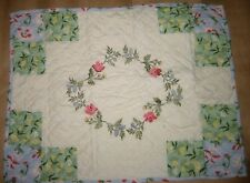 New Martha Stewart Quilted Embroidered Pillow Sham Reg$70 Coneflower Diamond