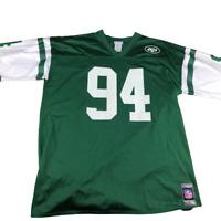 New York Jets Reebok Authentic Team Replica, 94 Abraham, Jersey, Green, Size 2XL
