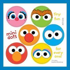 96 Sesame Street Dot Stickers (16 Sheets) Abby Cadabby Elmo Cookie Monster Oscar