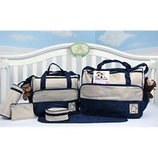 BABY Diaper bags 8 Pieces set Newborn BOY changing BAG Shower Travel Dark Navy