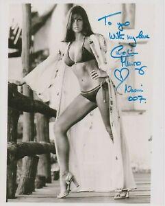 "Caroline Munro 10"" x 8"" photo signed in person - James Bond - K664"