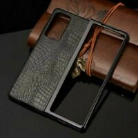 For Samsung Galaxy Z Fold 2 5G Slim PU Leather Crocodile Case Phone Bag Cover