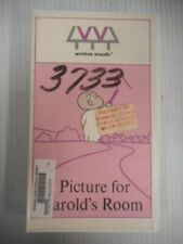 Weston Woods A Picture For Harold's Room VHS 1960 Animated 6 Minutes With Guide