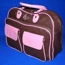 GORGEOUS Cricut CGULL Chocolate Brown/Pink Leather 72 Cartridge Tote Bag