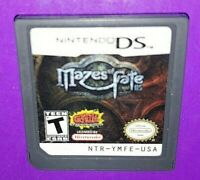 Mazes of Fate DS (Nintendo DS, 2008) Cartridge Only B502