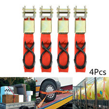 4Pcs Ratcheting Tie Down Cargo Straps Truck Bed Motorcycle Hauling Moving Straps