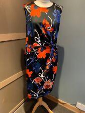 Dorothy Perkins Black Floral Sleeveless Dress Size 18