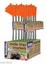 10 x Hi Vis Mole Trap Markers - Flags Makes Traps Easy To Find - stv317
