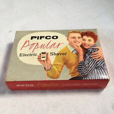 PIFCO POPULAR ELECTRIC SHAVER VINTAGE MID CENTURY HAIRCARE BARBERS BOXED DISPLAY
