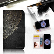 Gold pattern Mandala Wallet Case Cover For Samsung Galaxy S9 Plus -- A035