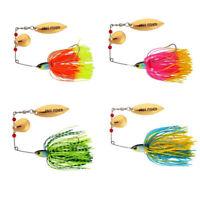 1X(4pcs Fishing Hard Spinner Lures Spinner bait Pike Bass Black&yellow&rose 8G8)
