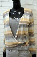 TRUSSARDI Donna S Maglione in Cashmere a Righe Maglia Pullover Maglia Sweater