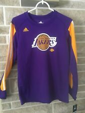 Los Angeles Lakers (Purple) Adidas Long Sleeve Shirt Size Youth M NEW